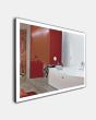 Фото сантехники Зеркало Мир ML-110(80/60) стекла 800*600 мм, с подсветкой, кнопоч.выключатель, без полки