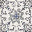 Текстура плитки Sevilla Azul Dekor A 19.8x19.8