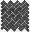 Текстура плитки Рум Блэк Мозаика Кросс 29.7x31.5
