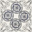Текстура плитки Sevilla Azul Dekor C 19.8x19.8