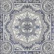 Текстура плитки Sevilla Azul Dekor E 19.8x19.8