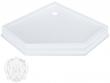 Фото сантехники Diadema Поддон душевой керамический, пятиугольный 105х105хH16 см, белый ML.PDP-28.510.BI
