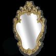 Фото сантехники Зеркало фигурное h76xL58xP4см, цвет золото