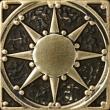Текстура плитки Солнце Бронза 5x5