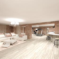 Гостиная, комната Italgraniti/Scrapwood