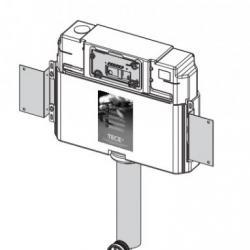 Фото сантехники Застенный бачок для напольного унитаза, фронтальная установка