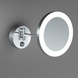Фото сантехники Зеркало косметическое с подсветкой, хром