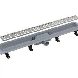 Фото сантехники Alcaplast Водоотводящий желоб с комбинированным сифоном и решеткой в комплекте 950 см, хром