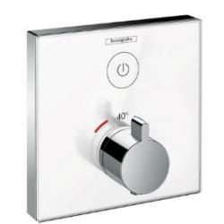 Фото сантехники Термостат ShowerSelect для одного потребителя, стеклянный, СМ, белхром