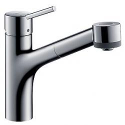 Фото сантехники Talis S Смеситель для кухни, однорычажный, с выдвижным душем, ½, хром