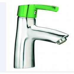 Фото сантехники Florakids Смеситель для раковины с донным клапаном,цвет зеленый