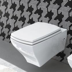 Фото сантехники Унитаз подвесной 36x54см c набором крепежей, цвет белый