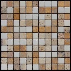 Изображение Mix Мозаика мрамор MT-02-25T (MT-02) 1,5х1,5