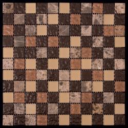 Изображение Mix Glass&Stone Мозаика микс MSD-010 (PST-10) 2,5х2,5
