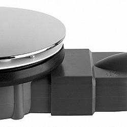 Фото сантехники Сифон для плоского душевого в поддона D90мм высота 40мм, горизонтальный