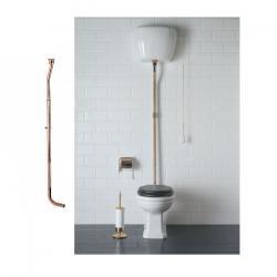 Фото сантехники Paestum Труба для подвесного бачка бронза