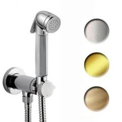 Фото сантехники NIKITA Комплект гигиенического душа с смесителем на держателе, золото