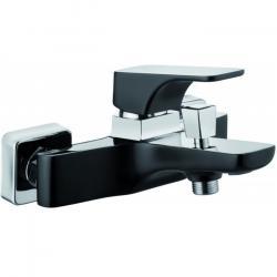 Фото сантехники HIACYNT Смеситель для ванны кор излив цвет черный-хром без душевого набора
