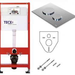 Фото сантехники Tecebase Модуль с креплением, с панелью смыва TECEloop ,хром глянцевый