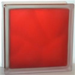 Картинка товара Стеклоблок Волна Рубиновый Яркий Матовый 19х19