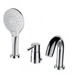 Фото сантехники Time Смеситель для ванны, встраиваемый, на 3 отверстия, хром