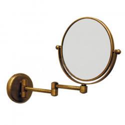 Фото сантехники Зеркало оптическое на шарнирах d18xh25x42см (3Х), цвет бронза
