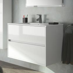 Фото сантехники Noja Тумба 80 см, цвет белый глянец (для комплектации с раковиной)