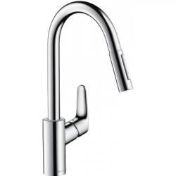Фото сантехники Focus Смеситель для кухни с выдвижным душем, цвет хром
