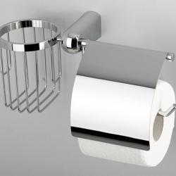 Фото сантехники Berkel Держатель туалетной бумаги и освежителя, хром