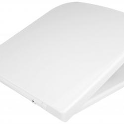 Фото сантехники Alpina Сидение для унитаза,дюропласт, цвет белый, Soft close, петли металические