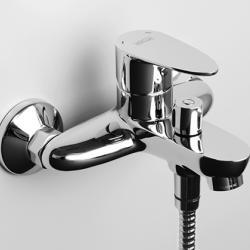 Фото сантехники Leine Смеситель для ванны с коротким изливом, цвет хром