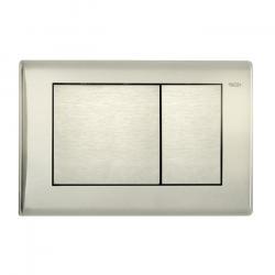 Фото сантехники Teceplanus Панель смыва с 2-мя клавишами, цвет нержавеющая сталь, сатин