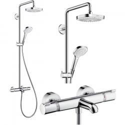 Фото сантехники Душевая система с термостатом 180 2 jet для ванны, белый/хром