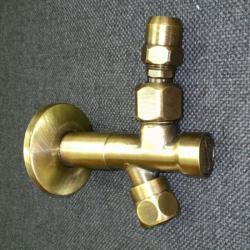 Фото сантехники Ricambi Кран-фильтр 1/2х1/2, с переходником на 3/8 и цангой для жесткой подводки, цвет бронза