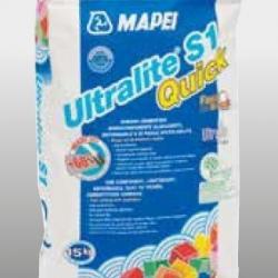 Строительная химия Ultralite S1 Quick 15 кг белый быстросохнущий однокомпонентный цементный клей C2FT S1