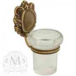 Фото сантехники Cleopatra Стакан настенный,стекло прозрачное с матовым декором, золото