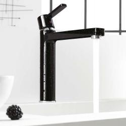 Фото сантехники Zenta Смеситель для кухни однорычажный, черный/хром