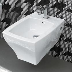 Фото сантехники Jazz Биде подвесное 36х54см, с 1 отвертстием под смеситель, цвет белый, с креплением