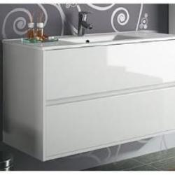 Фото сантехники Noja Тумба 100 см, цвет белый глянец (для комплектации с раковиной)