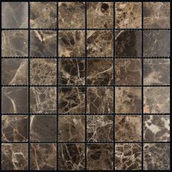 Изображение Adriatica Мозаика Mраморная Полированная M022-48P (Emperador Dark) 4.8х4.8