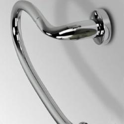 Фото сантехники Basic Держатель для полотенца закругл. 25х12,5см, цвет хром