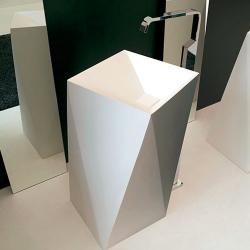 Фото сантехники Sharp  раковина напольная50х50х85 см, цвет белый