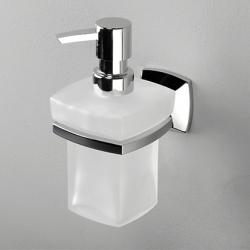 Фото сантехники Wern Дозатор жидкого мыла, стекло, цвет хром