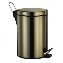 Фото сантехники Wasser Kraft Ведро для мусора, 5 л, с педалью, светлая бронза