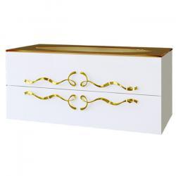 Фото сантехники Due amanti Тумба по раковину Elegance 100 см белая, ручки золото