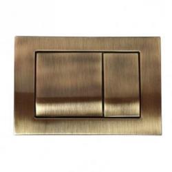 Фото сантехники Клавиша двойная h16,3х24,3см. для инсталяции, цвет бронза