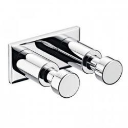 Фото сантехники System 2 Крючок двойной на пластине 52,5х26х49 мм, настенный монтаж, цвет хром