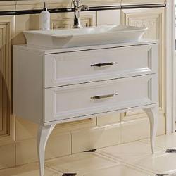 Фото сантехники LaDonna Тумба 40,5 х 85 х 77 см, под умывальник, цвет белый глянец, фурнитура хром, без раковины