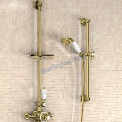 Фото сантехники Термостат внешний с двумя выпусками, цвет золото