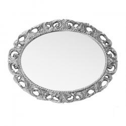 Фото сантехники Зеркало овальное 70x89x3,5 см, цвет серебро
